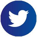 Ikona Twittera naniebieskim tle